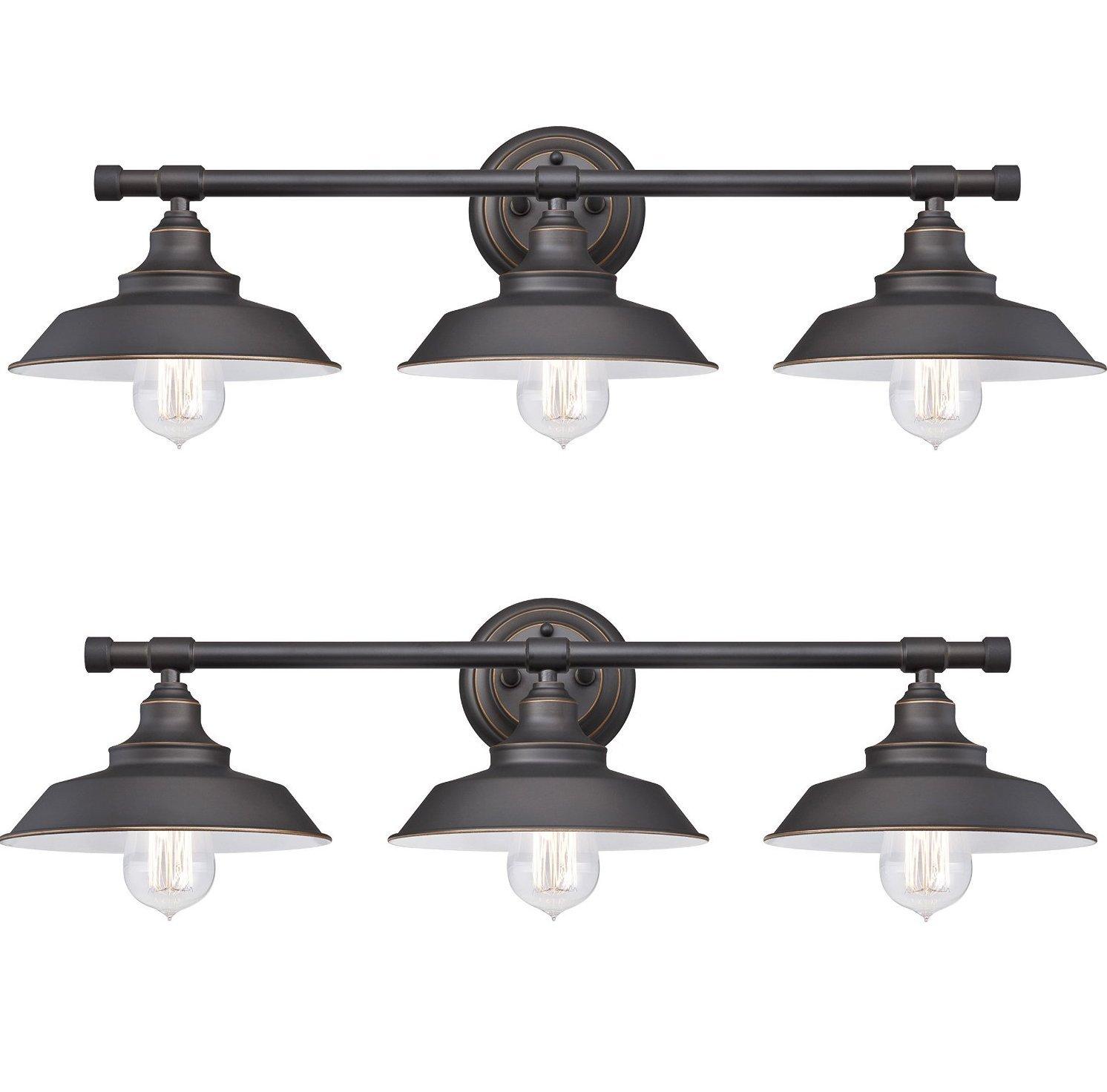 Westinghouse Iron Hill 屋内壁付け3灯照明器具 Pack of 2 6343400 B01KU8UH72