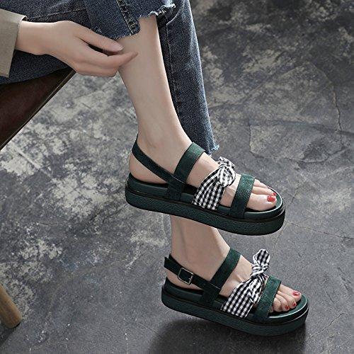piatti Summer Bow Comfort La Toe YMFIE sandali A antiscivolo Casual Sandali signora Sweet AxCvqnnw64
