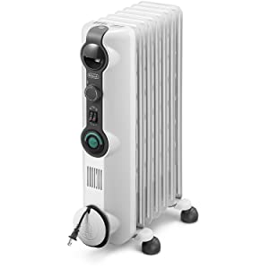 DeLonghi Comfort Temp Full Room Radiant Heater, Light Gray