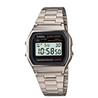 Casio Men's A158W-1 Classic Digital Stainless Steel Bracelet Watch