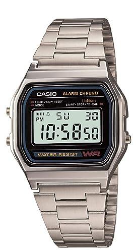 83230dd04 Casio Montre Homme Digitale avec Bracelet en Acier Inoxydable - A158WEA-1EF
