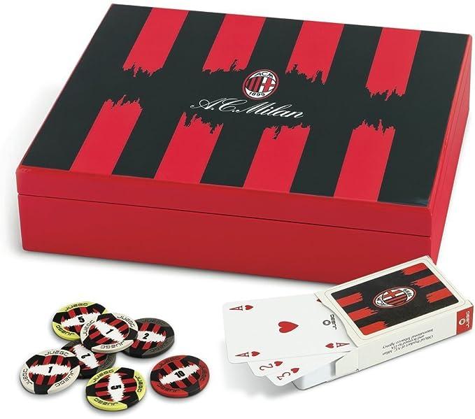 Juego - Poker en Caja con Estampado A.C. Milan (ITA Toys JU00616 ...