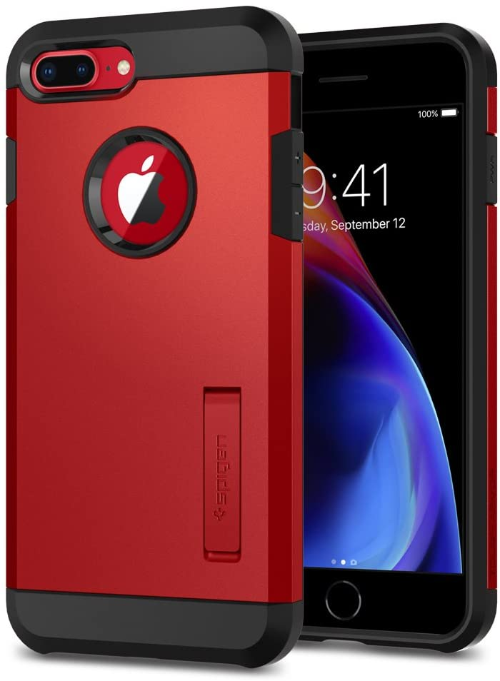 Spigen Tough Armor [2nd Generation] Designed for iPhone 8 Plus Case/iPhone 7 Plus Case (2018) - Red