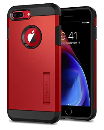cheap for discount 72e12 58f14 Spigen Tough Armor [2nd Generation] Designed for iPhone 8 Plus Case/iPhone  7 Plus Case (2018) - Red