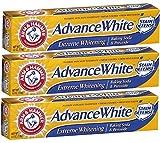 baking soda whitening - Arm & Hammer Advance White Baking Soda and Peroxide Toothpaste, Extreme Whitening, 6 Ounce (Pack of 3)