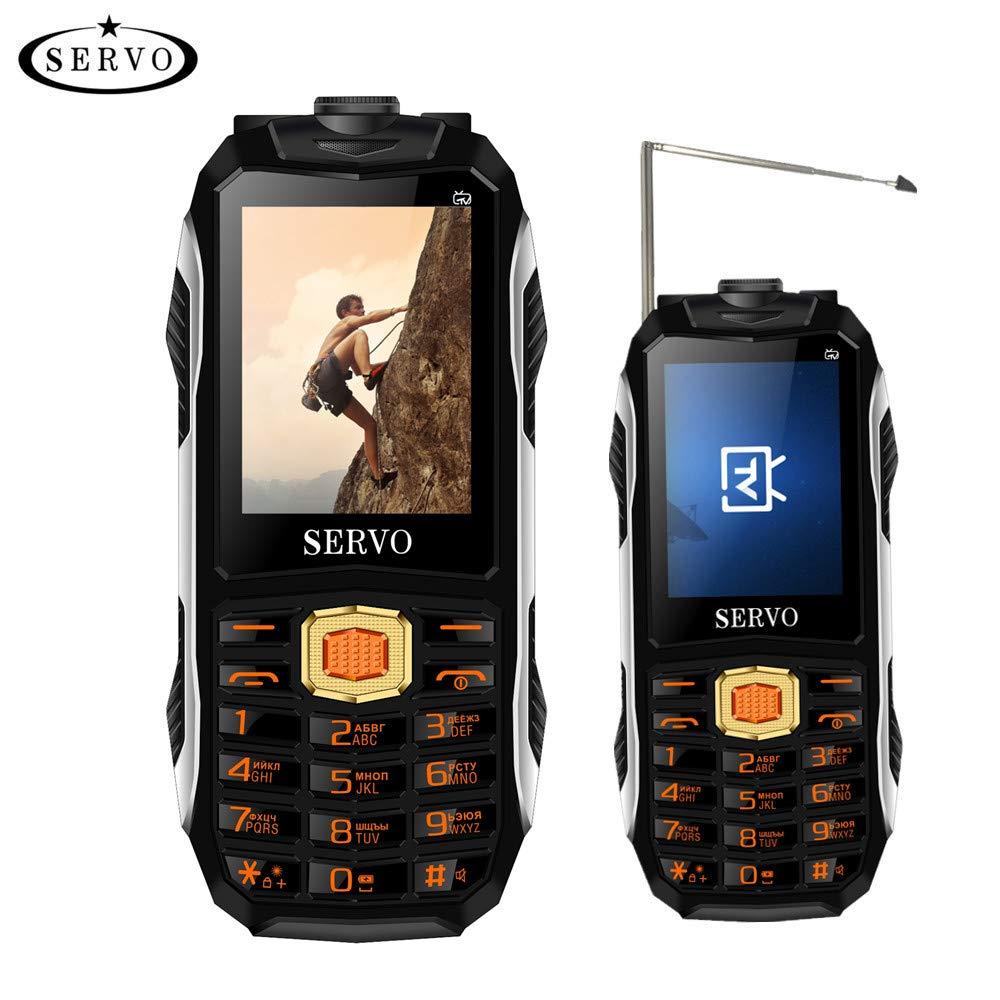 Fusutonus Mini Rugged Té lé phone antichoc Chantier 4 en 1 Etanche Portable Solide Noir