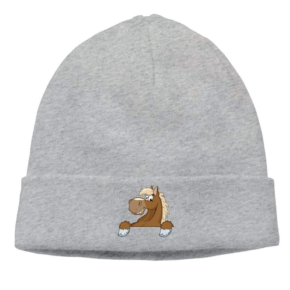 nordic runes Horse Beanie Hat Winter Warm Knit Skull Cap for Mens//Womens