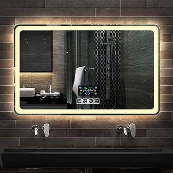 Badezimmerspiegel Badezimmer LED Licht Spiegel Badezimmer Wandbehang ...