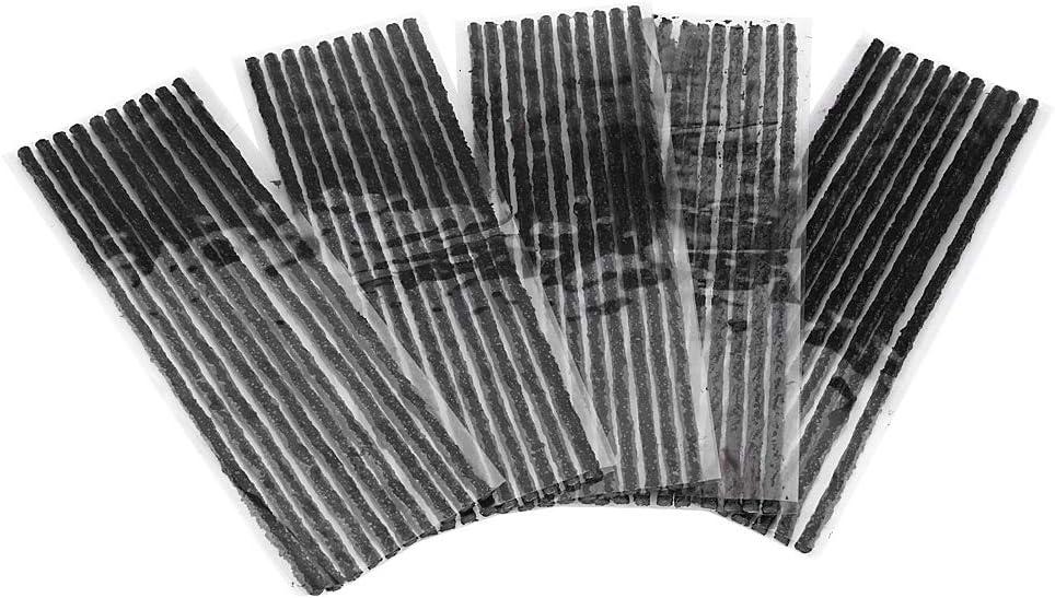 Vobor 200 * 3,5 mm 50 Piezas sin c/ámara Negro reparaci/ón de pinchazos Tiras de Goma para Coche Motocicleta neum/ático