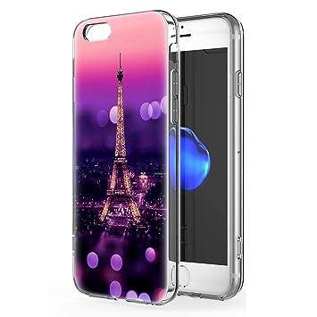 coque iphone 6 plus silicone transparente avec motif