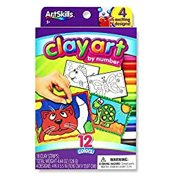 ArtSkills Clay Art by Number, 18-Count (AMYS-113)