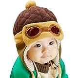 PanDaDa Baby Girls Boys Hats Winter Warm Cap Hat Beanie Pilot Aviator Crochet Earflap