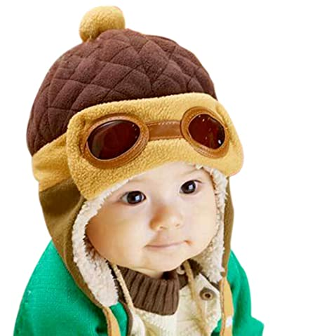 8b963f928bc PanDaDa Baby Girls Boys Hats Winter Warm Cap Hat Beanie Pilot Aviator  Crochet Earflap