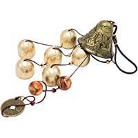 Banfeng Lucky Wind Chimes Feng Shui Bell for Good Luck Home Garden Patio Hanging Decoration Gift (6 Bells)