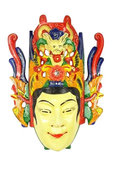 Chinese Drama Home Wall Decor Opera Mask 100% Wood Craft Folk Art