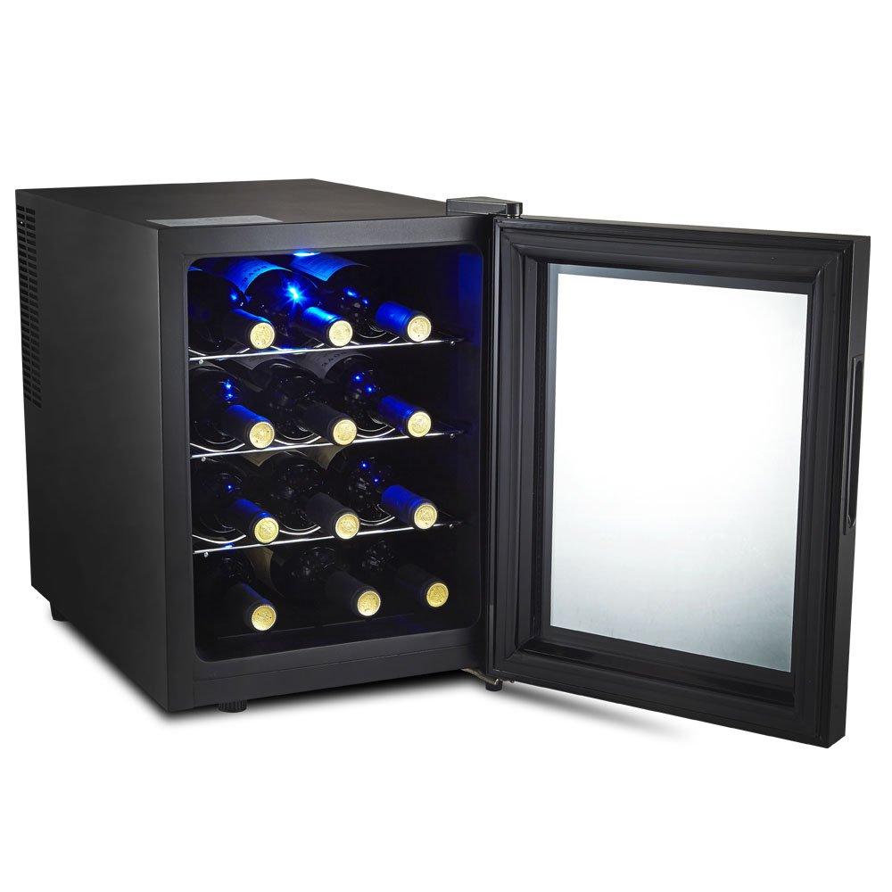 Amazon.com: Kalamera 12 Bottle Freestanding Single Zone Wine ...