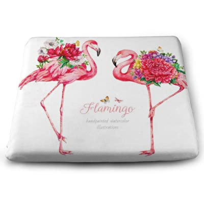 Sanghing Customized Flamingo with Flowers Watercolor Botanical Illustration 1.18 X 15 X 13.7 in Cushion, Suitable for Home Office Dining Chair Cushion, Indoor and Outdoor Cushion.: Home & Kitchen