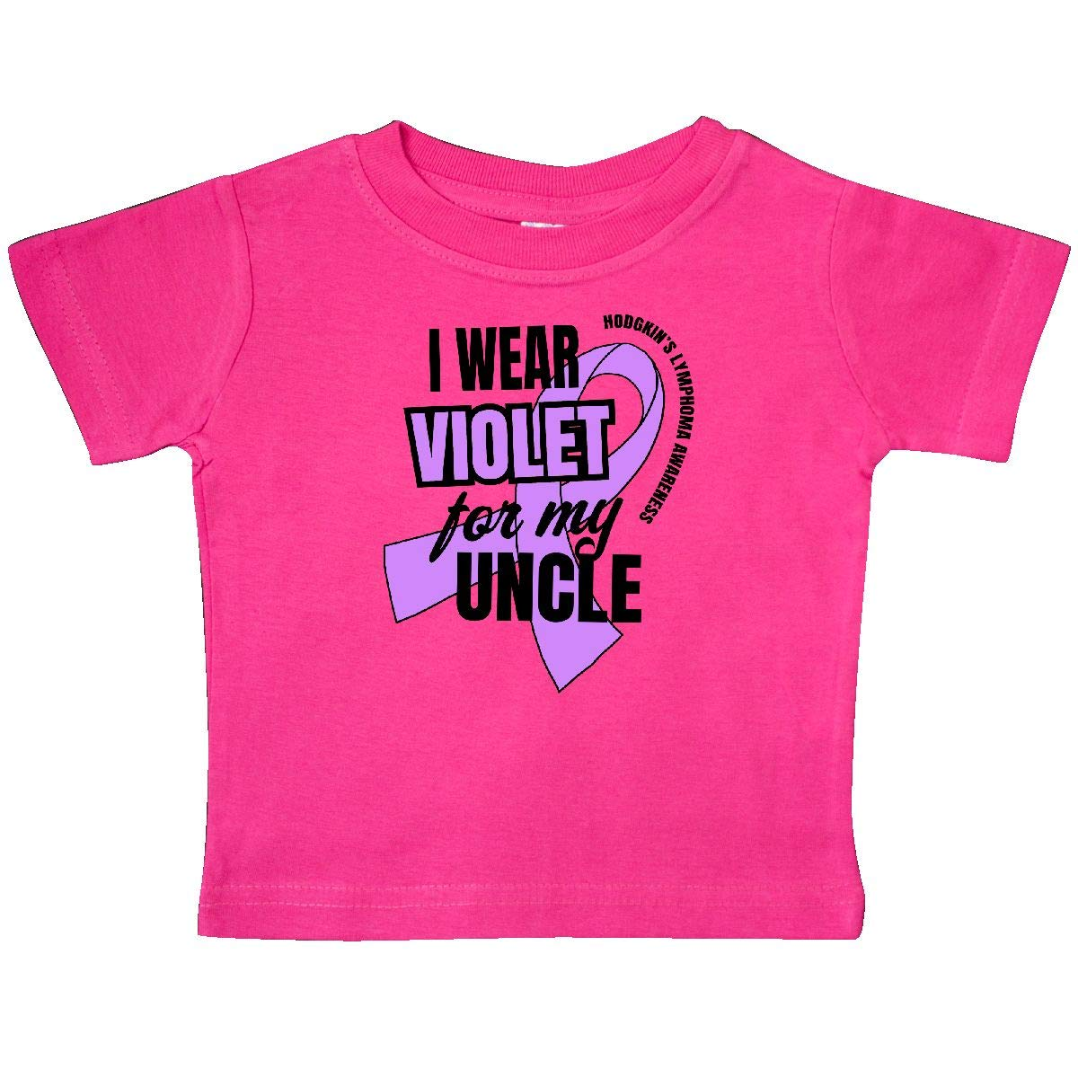 inktastic I Wear Violet for My Uncle Hodgkins Lymphoma Awareness Baby T-Shirt