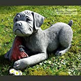 Garden Ornaments By Onefold DO2 Boxer Puppy Stone Garden Ornament, Grey,  39x17x23 Cm
