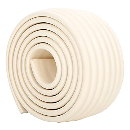 Table Edge Protectors for Baby 4 Child Proof Corner Protectors 13.2 Feet Foam Furniture Safety Bumpers Baby Proofing Coffee Table Edge /& Corner Guards Beige//White
