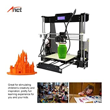 Amazon.com: Anet A8 3D Printer High Accuracy Acrylic PLA 3D ...
