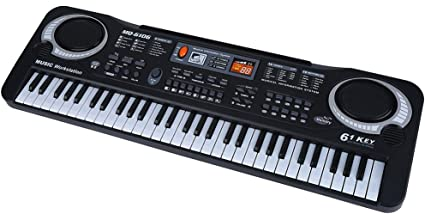 61 Key Electronic Piano Toys Digital Music Keyboard Organ /& Microphone USB Cable