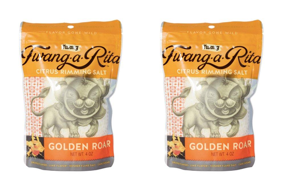 Twang-a-Rita Rimming Salt Varieties - 4 ounce pouch - (2 pack) (Golden Roar (Top Shelf))