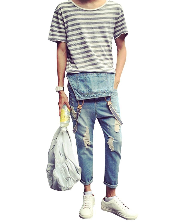 Brinny Sommer Vintage Jeans Latzhose Jungen Loch Ripped Destroyed Washed  Jumpsuit Overalls Denim Lange Hose Hellblau Asien: S-3XL: Amazon.de:  Bekleidung