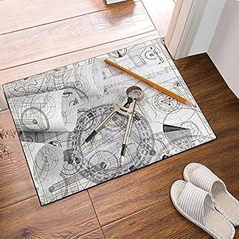 Amazon.com : Personalized Protractor Floor or Door Mat