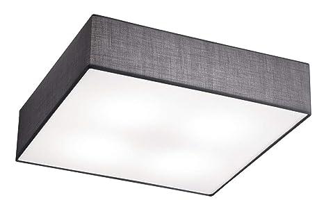Deckenleuchte Deckenlampe EMBASSY Stoffschirm weiß 50 x 50cm 4x E27
