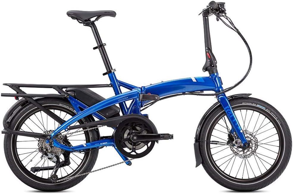 Tern Cmp1876 Vektron Q9 CB19EHPC09HLRSL23-Bicicleta eléctrica (9 velocidades, Aluminio, 25 km/h, Cambio Shimano 36 V, 250 W), Color Azul, Unisex Adulto, Negro/Plateado, Medium