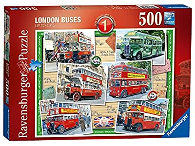500pc London Buses Up To 1945 Jigsaw Puzzle