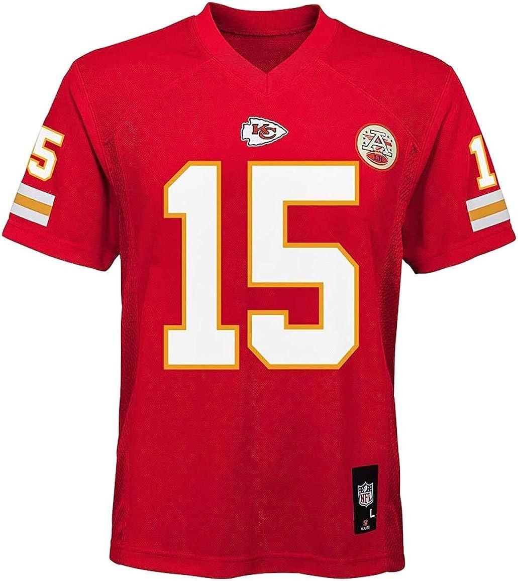 Patrick Mahomes Kansas City Chiefs NFL Boys Youth 8-20 Red Home Mid-Tier Jersey