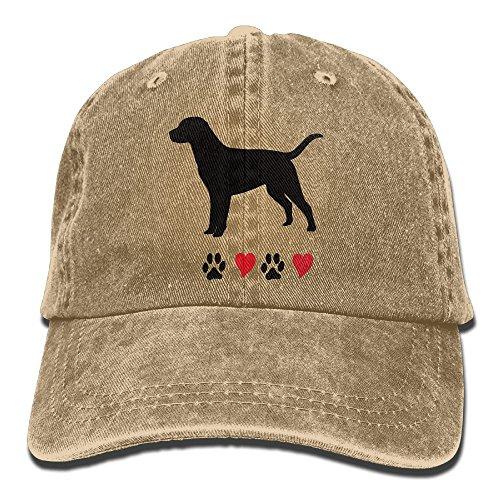 I Love My Black Labrador Retriever Snapback Cotton Cap Natural