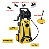 Wolf Blaster Max 2 Pro Power Pressure Washer 2200 Watt 165BAR Pump With New 'Click and Connect' System Plus Accessories Including Patio Cleaner, Car Brush and 5 Metre High Pressure Hose