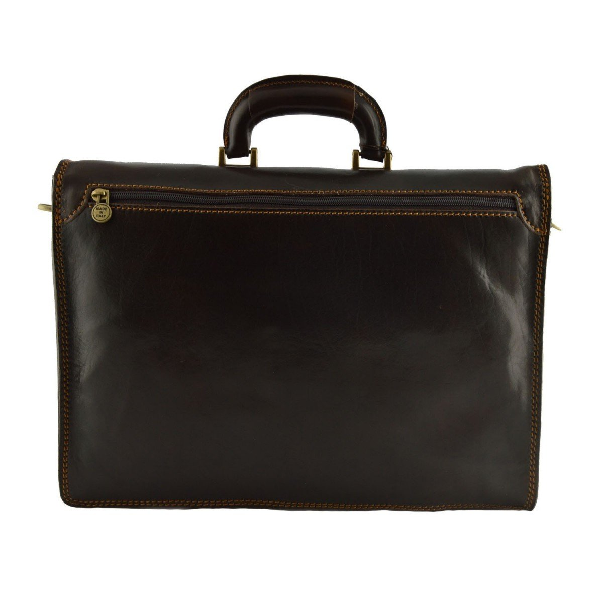 Leather Briefcase Color Dark Brown