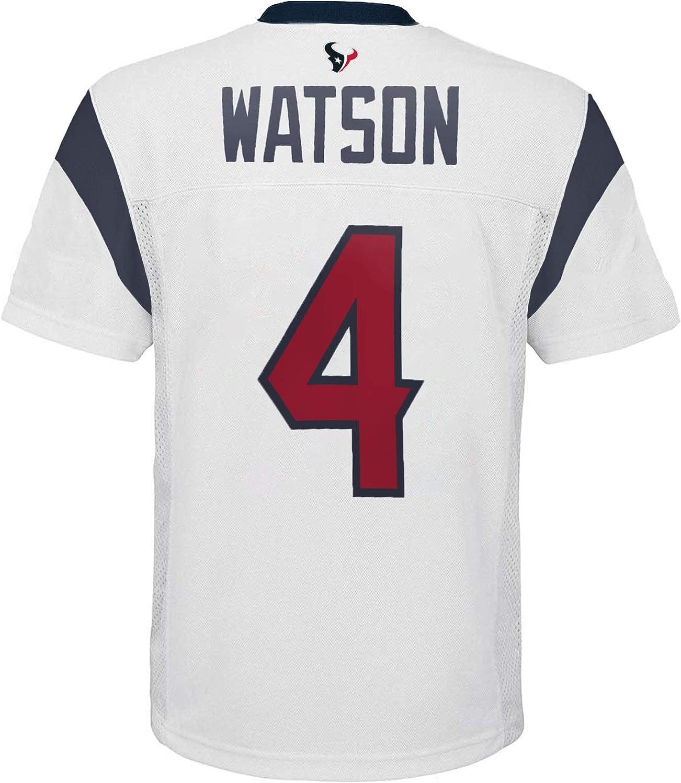 OuterStuff Deshaun Watson Houston Texans #4 White Youth Away Mid ...