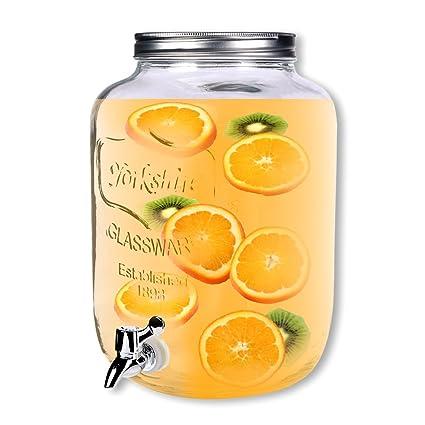 Schramm dispensador de Bebidas Aprox. 7,5 litros con Tapa de Rosca zapfhahnflasche weckglasoptik