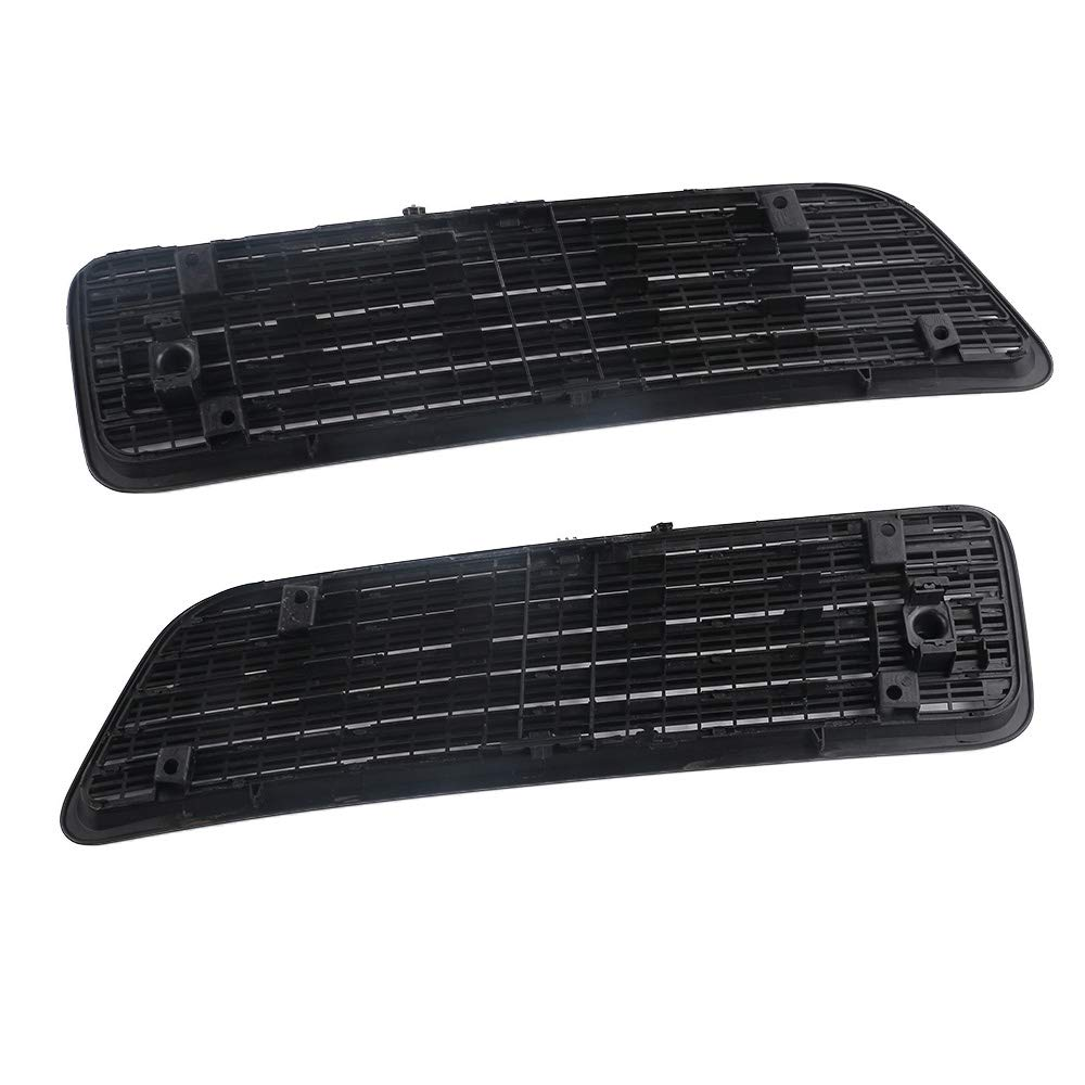 Hood Upper Grill Vent Trim 1 Pair Front Right and Left Passenger Driver Fit For Mercedes-Benz S550 W221 2007-2013 2218800205 2218800305