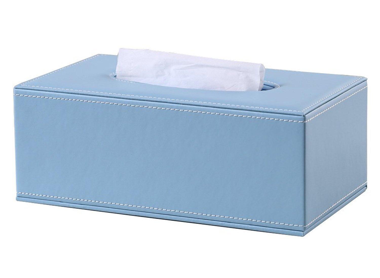 Cdet Forme de Rectangle Bo/îte /à mouchoirs carr/ée Bo/îte de Rangement en PU Tissue Box D/écoration Voiture Maison 1PC 25.3x14x10cm