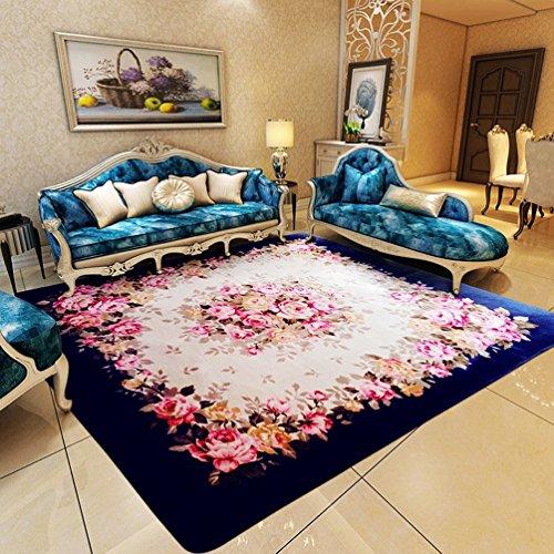 WAN SAN QIAN- Creative Coral Villi Rug Economy European Style Living Room Carpet Home Rectangle Carpet Bedside Blanket Carpet Rug ( Color : B , Size : 130x185cm ) by Rug