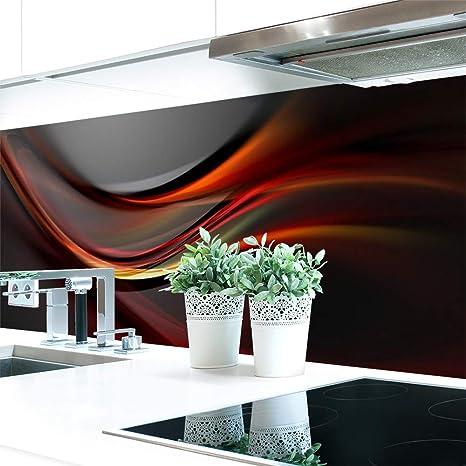 Küchenrückwand Abstrakt Dunkel Premium Hart Pvc 0 4 Mm Selbstklebend 280x60cm
