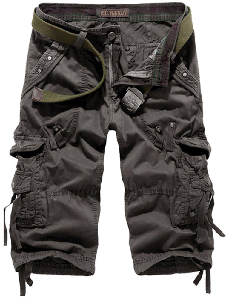 Mochoose Uomo Casual Camouflage Cotton Twill Cargo Shorts Pantaloncini Multi Tasche 3/4 Estate Abbigliamento Outdoor Pantaloni