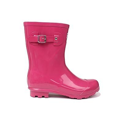 Kangol Womens Low Ladies Wellies Slip On Wellington Boots Rubber Rain  WW8IER8ZT