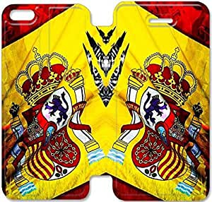 iPhone 5c funda, Flip funda para iPhone 5c, [ESPAGNE DRAPEAU] de primera calidad Flip PU ??cuero funda para iPhone 5c [DDUIPH3461082]