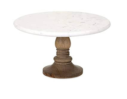 Buy Bridge2shopping White Marble Cake Stand Round Shape Cake Stand With Wood Base 12 Inch X 5 7 Inch Marble Online At Low Prices In India Amazon In
