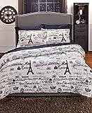 F/Q Vintage Paris Comforter Set
