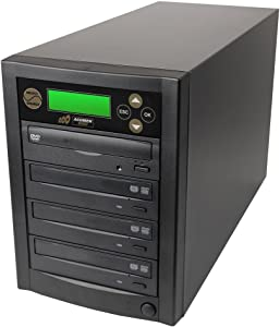 Acumen Disc 1 to 3 Targets Dual Layer 24X Burner DVD CD Copier Duplicator Machine Unit (Standalone Audio Video Copy Tower, Duplication Device)