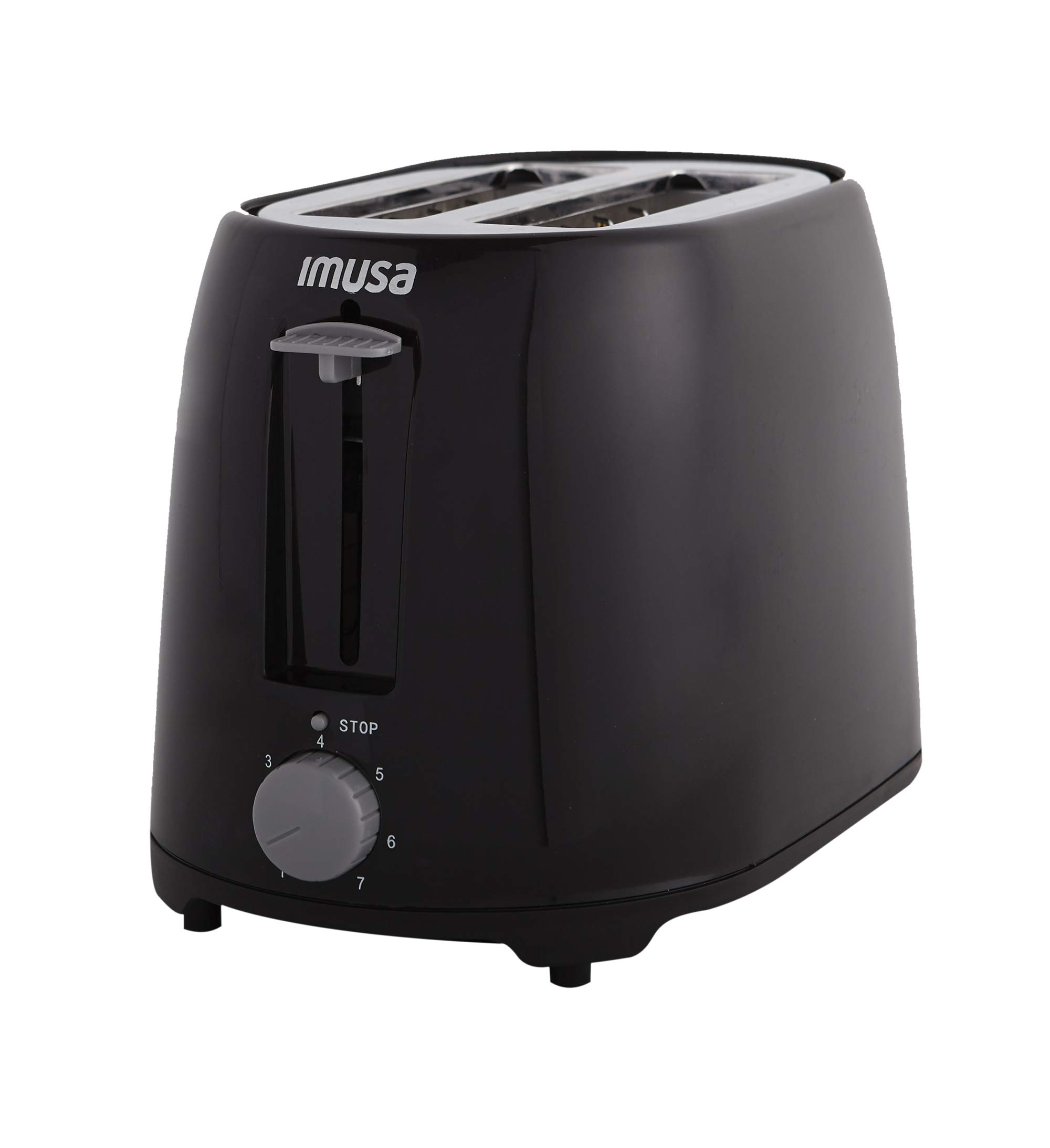 IMUSA USA GAU-80321B Black 2-Slice Basic Cool Touch Toaster with Extra-Wide Slot for Bagels and Removable Crumb Tray by IMUSA USA