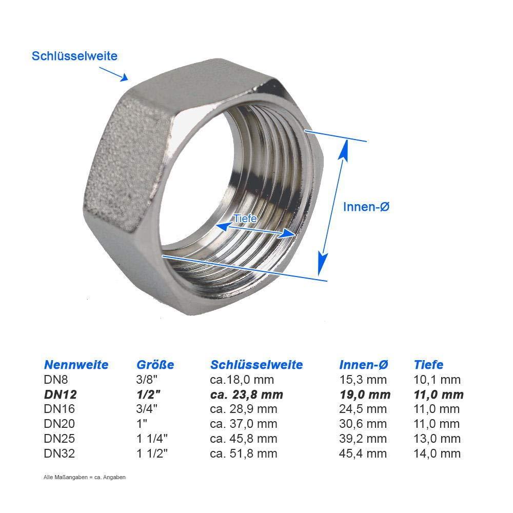 DN12 Edelstahlwellrohr 30 cm beidseitig 1//2 /ÜM enggewellt /& fertig montiert